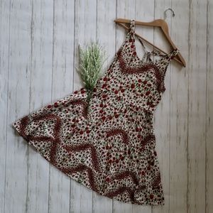 Divided | Rose Pattern Dress | Red and White